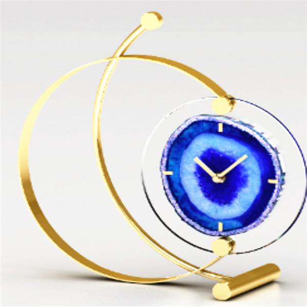 Art agate clock