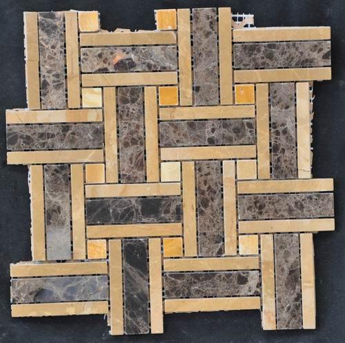 marble mosaic tile yellow