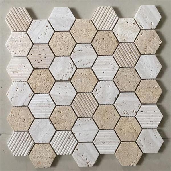 travertine hexagon