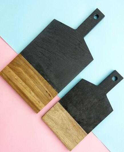 black slate wood board