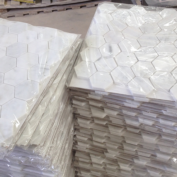 hexagon-white-marble-tile