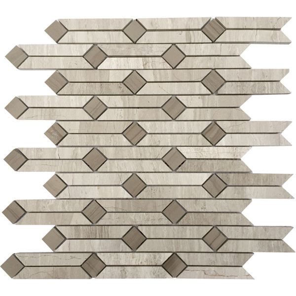 wood grey mosaic
